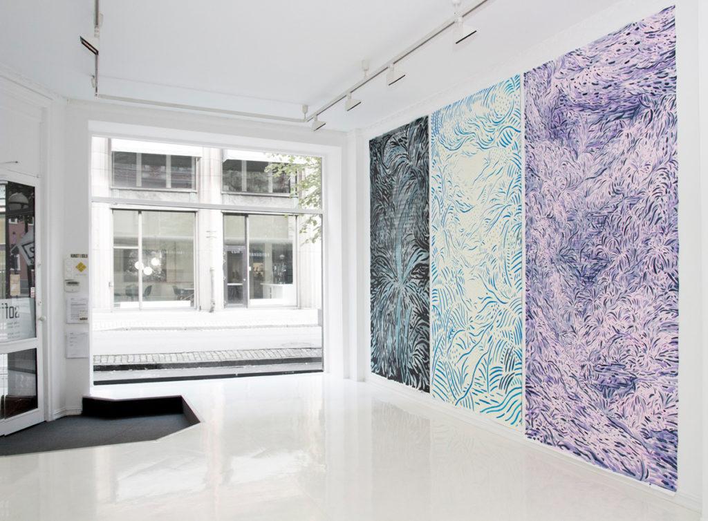 Verk av kunstner Robin Danielsson på SOFT galleri i 2016